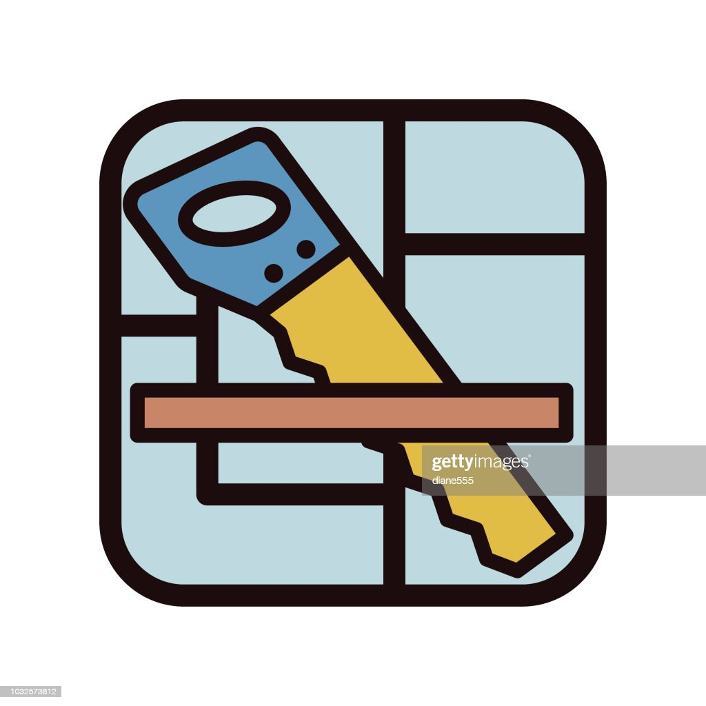 Thin Line Home Improvement Diy Icon Vector Art