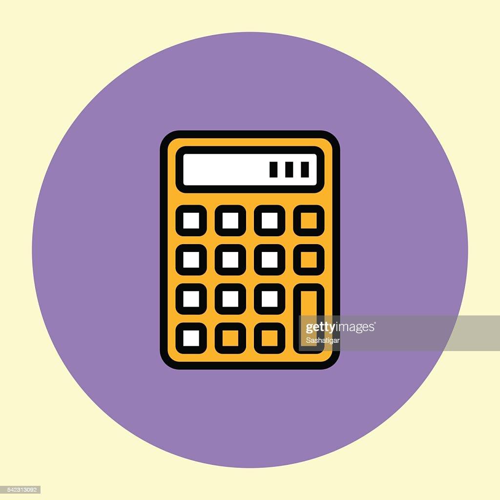 Thin Line Icon. Calculator.