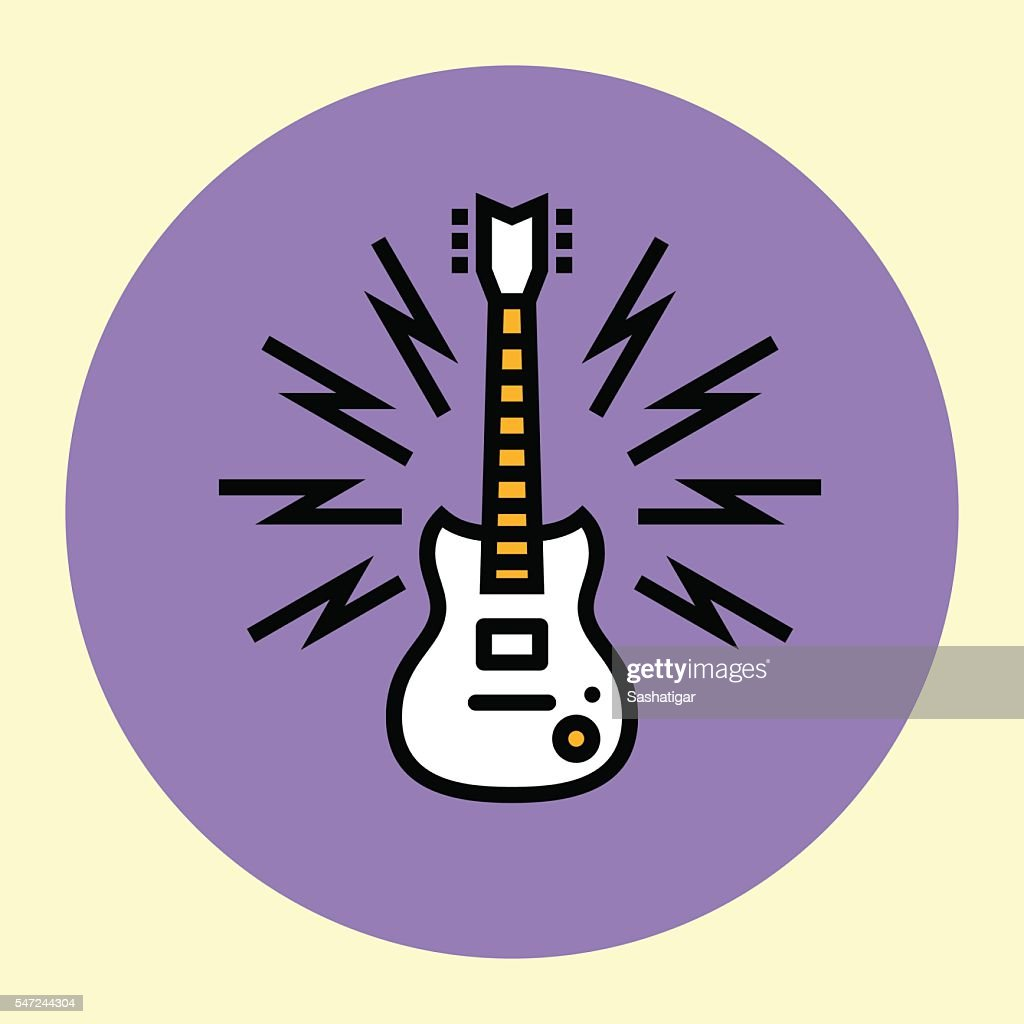 Thin Line Icon. Guitar.