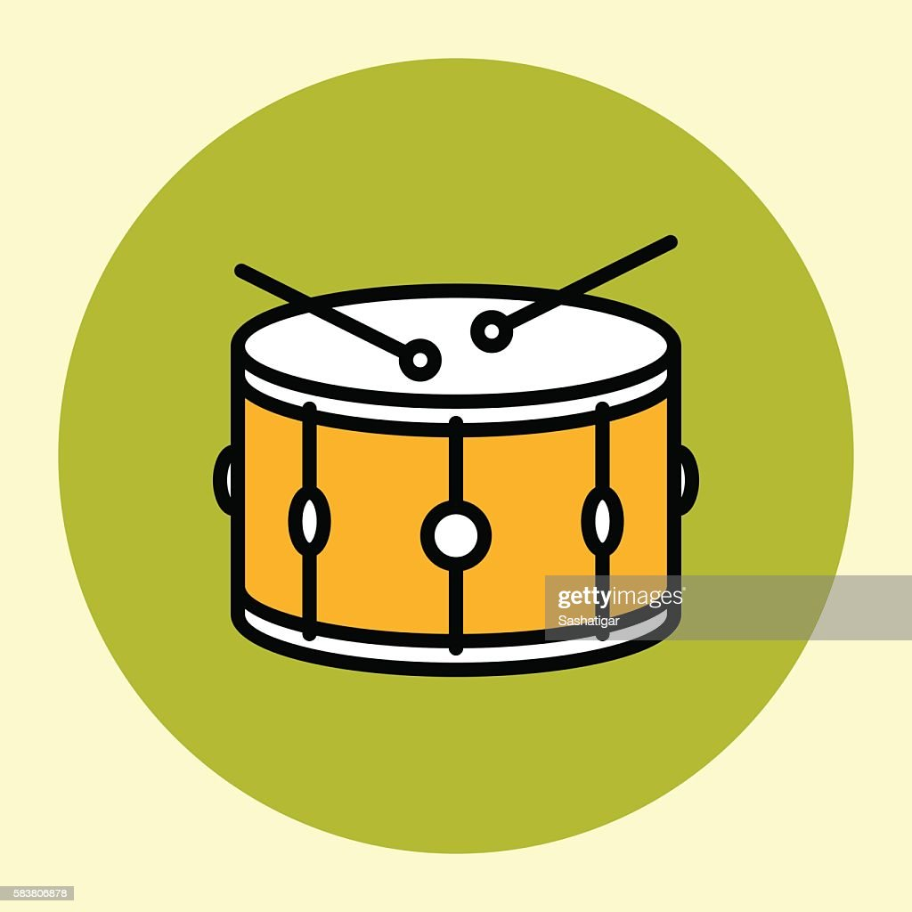 Thin Line Icon. Snare Drum.