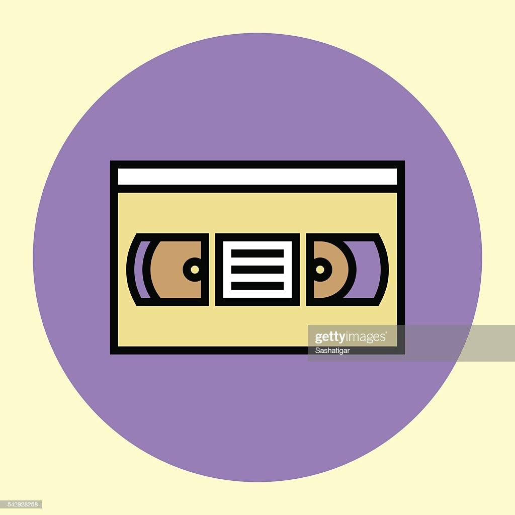 Thin Line Icon. Videotape.