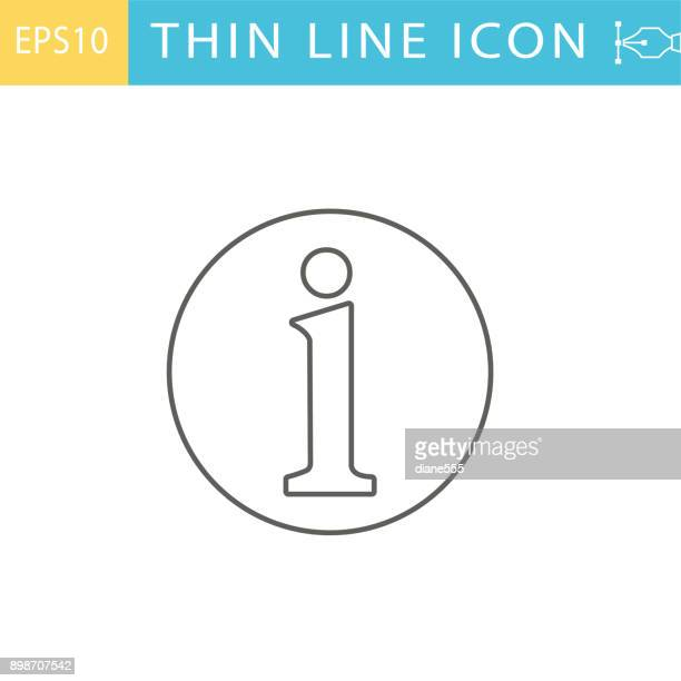 thin line icons -  customer service and information - information medium stock illustrations