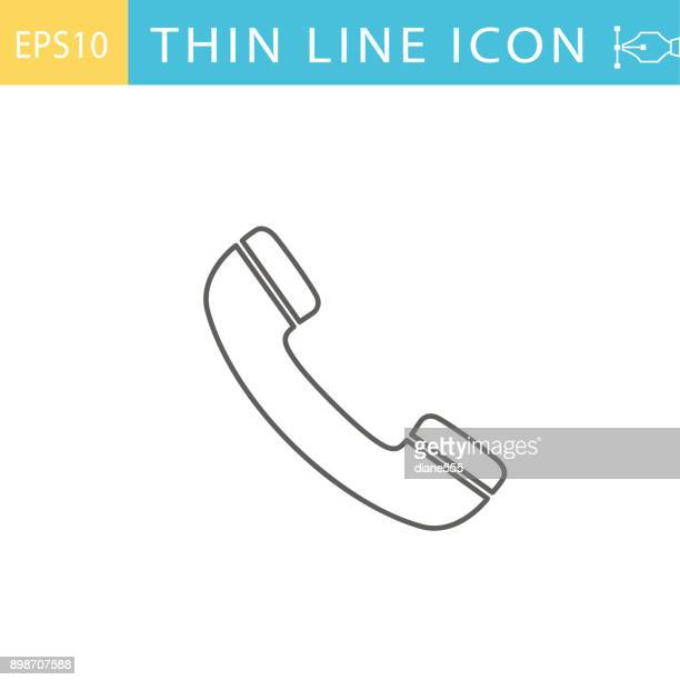 Thin Line Icons -  Customer Service and Information