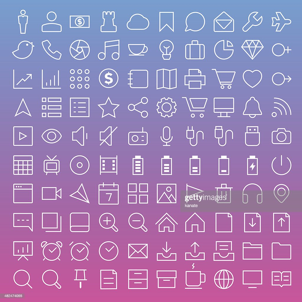 Thin Line Icons set