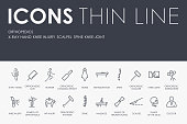 ORTHOPEDICS Thin Line Icons
