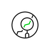 thin line round simple analytics
