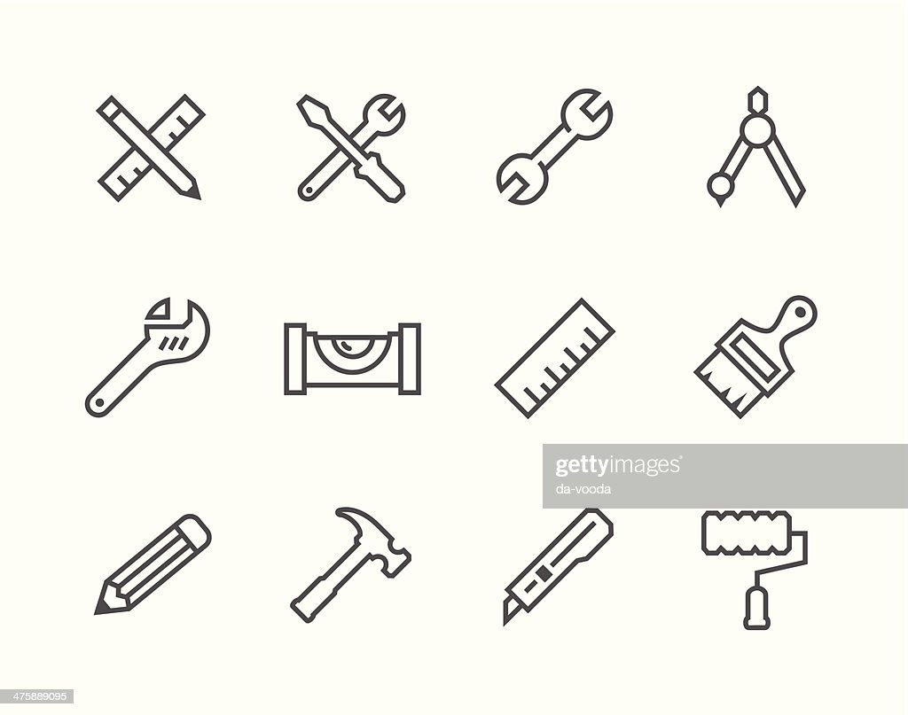 Thin line Tools icons