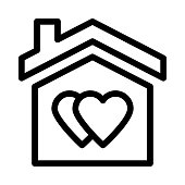 SWEET HOME Thin Line Vector Icon