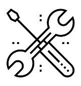 REPAIR SETTING Thin Line Vector Icon