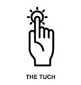 TOUCH Thin Line Vector Icon