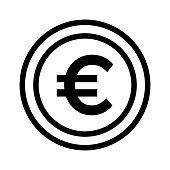 EURO Thin Line Vector Icon