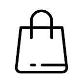 SHOPPING BAG Thin Line Vector Icon
