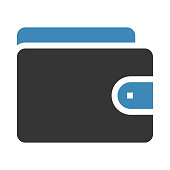 WALLET thin line vector icon