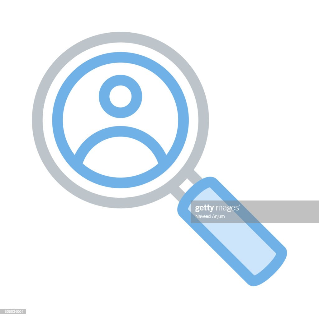 USER SEARCH thin line vector icon