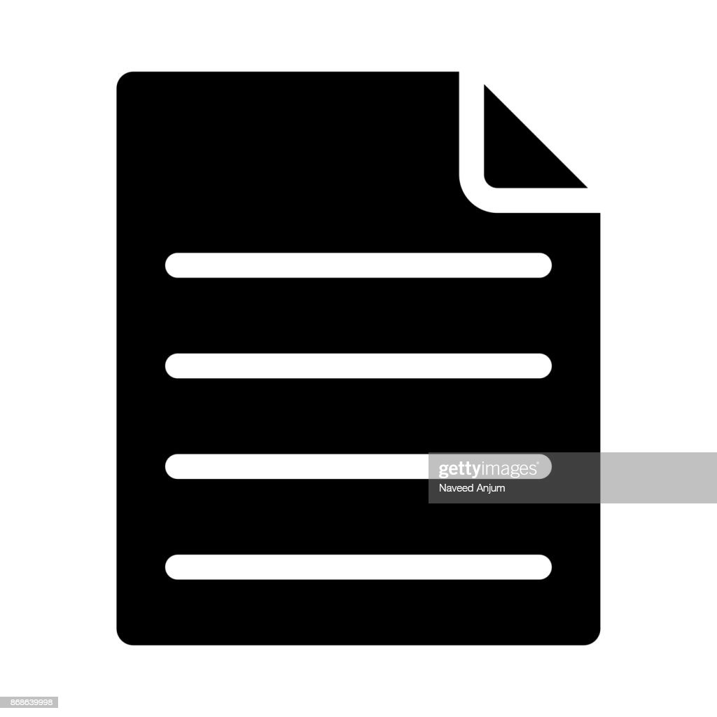 DOCUMENT thin line vector icon