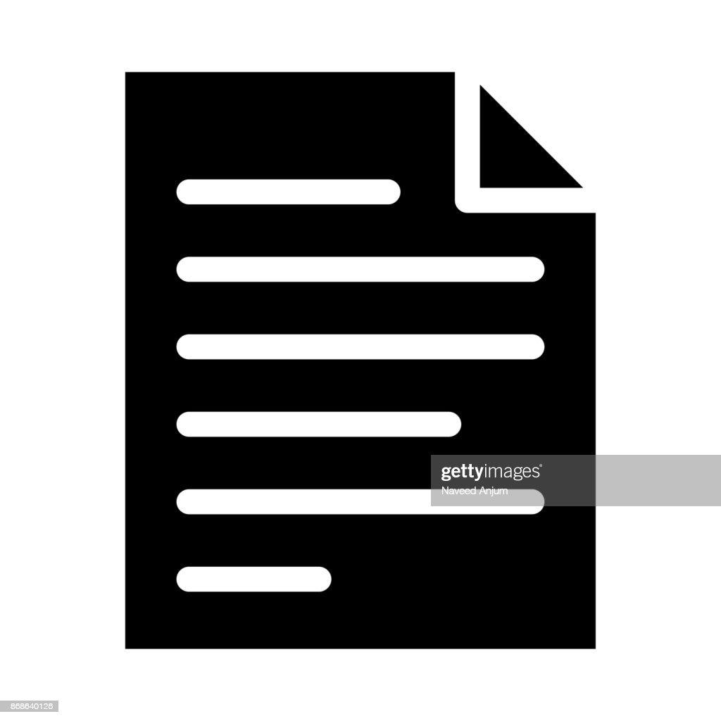 DOCUMENT thin line vector icon