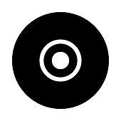 DISC thin line vector icon