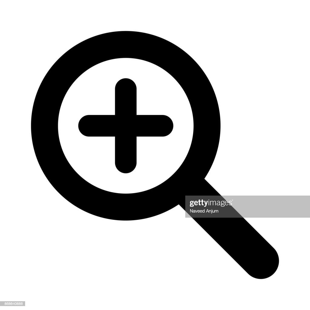 ADD SEARCH thin line vector icon