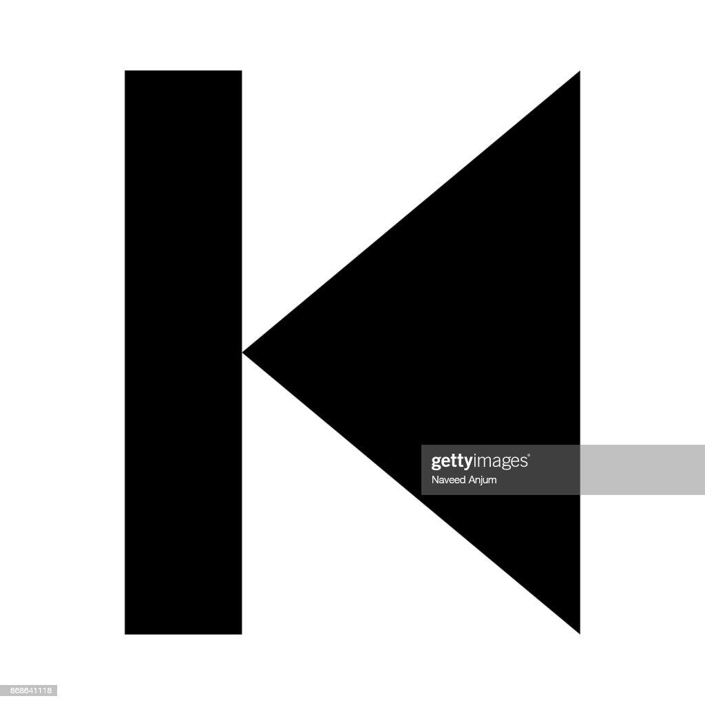 BACKWARD BUTTON thin line vector icon
