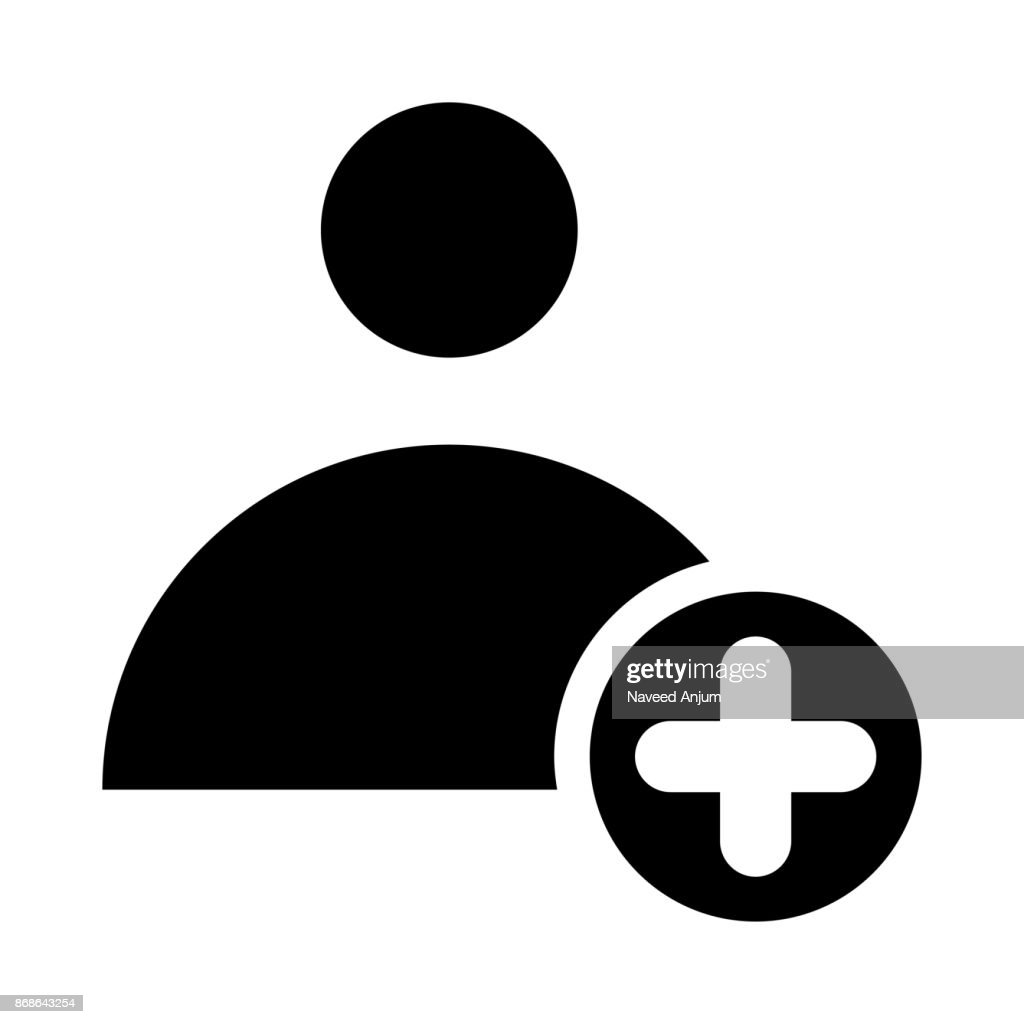 CONTACT ADD  thin line vector icon