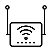 WIFI ROUTER Thin Line Vector Icon
