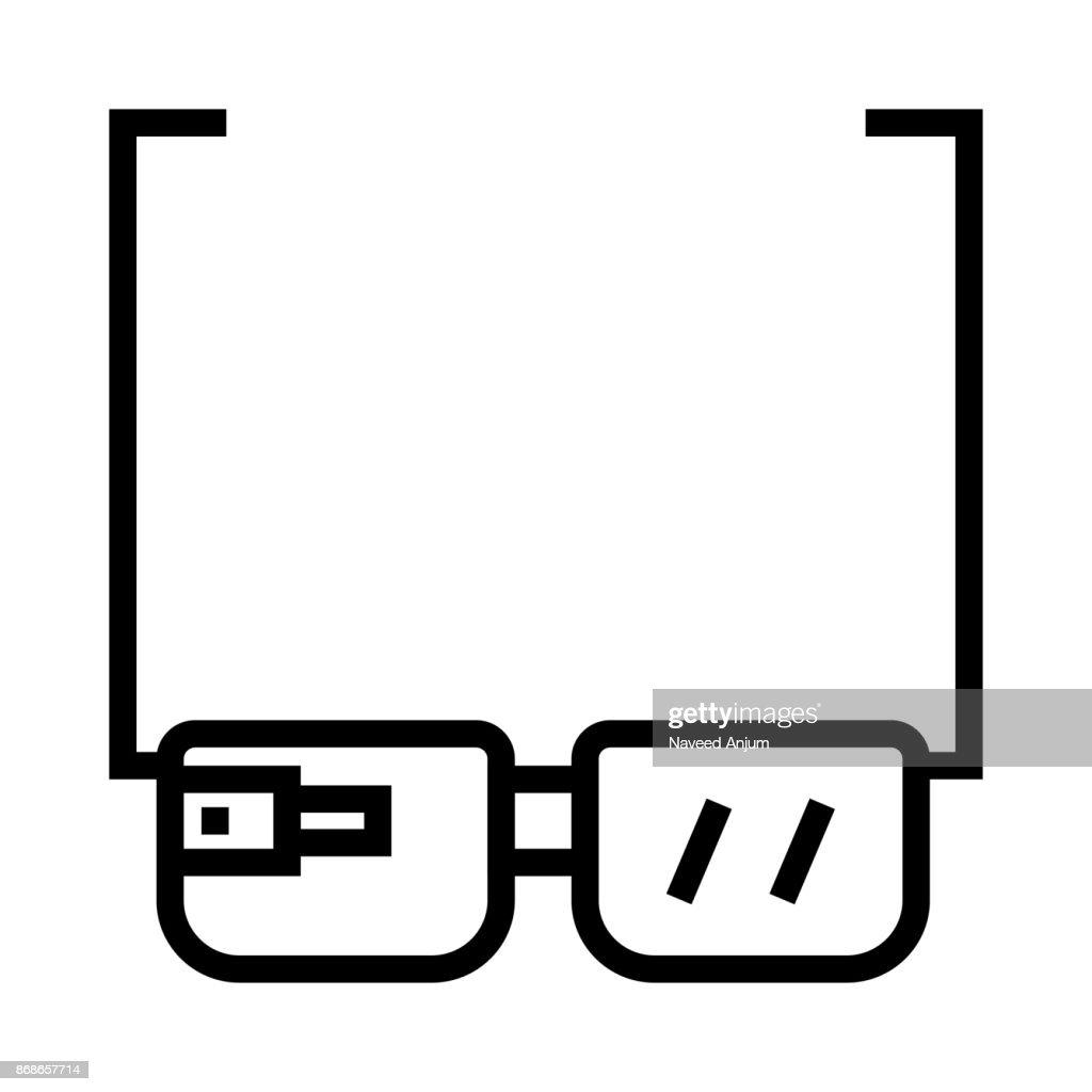 GOOGLE GLASSES Thin Line Vector Icon