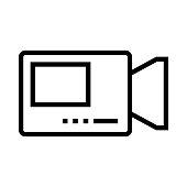 VIDEO CAMERA Thin Line Vector Icon
