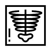 XRAY Thin Line vector Icon