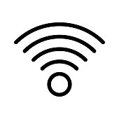 WI_FI Thin Line Vector Icons