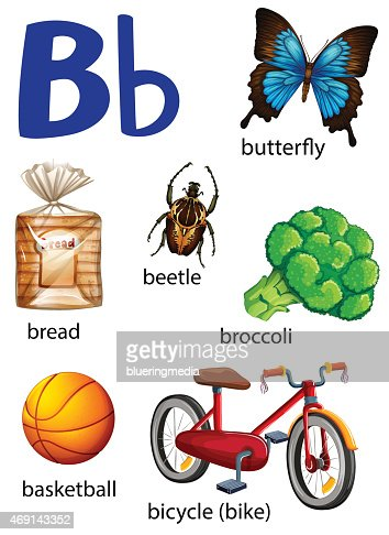 pictures of things starting with the letter d things choses qui commence avec la lettre b clipart vectoriel 960