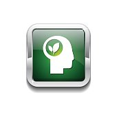 Think Green Green Vector Icon Button