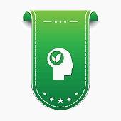 Think Green Green Vector Icon Design