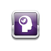 Think Nature Purple Vector Icon Button