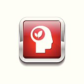 Think Nature Red Vector Icon Button