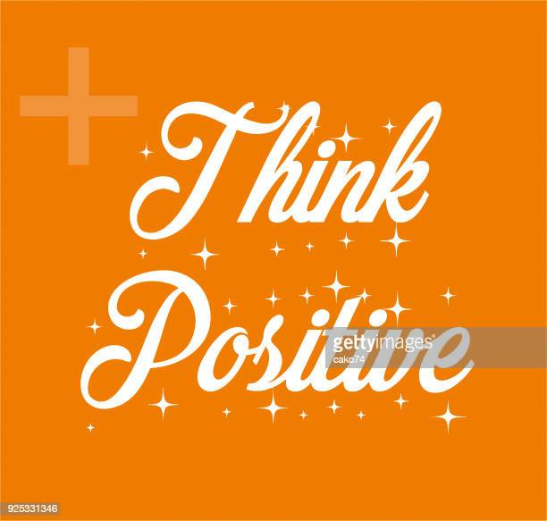 think positive - thinking of you card stock illustrations