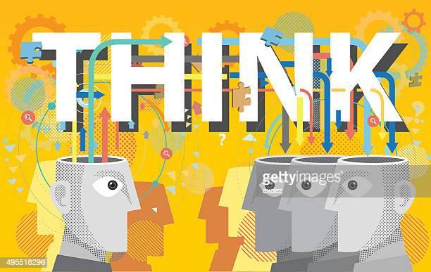 denken, zusammen - editorial stock-grafiken, -clipart, -cartoons und -symbole
