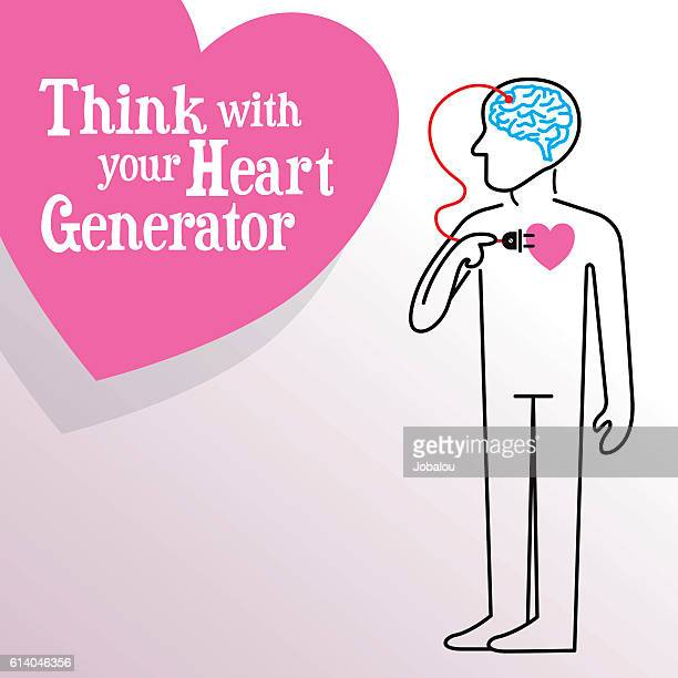 think with you heart generator - power supply box stock illustrations, clip art, cartoons, & icons