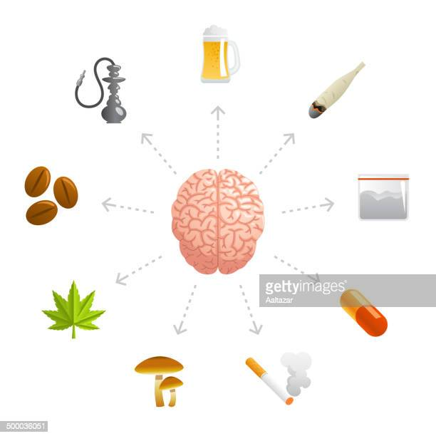 thinking about drugs - cocaine stock illustrations, clip art, cartoons, & icons