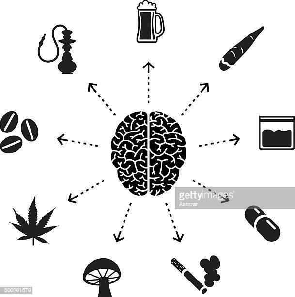 thinking about drugs - hashish stock illustrations, clip art, cartoons, & icons