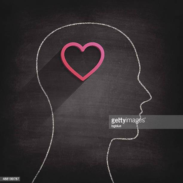 Thinking about love on Blackboard - Chalkboard