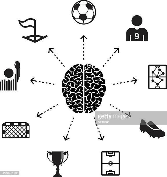 thinking about soccer - corner marking stock illustrations, clip art, cartoons, & icons