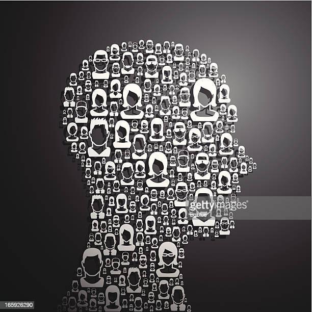 ilustrações de stock, clip art, desenhos animados e ícones de conceito de pensar - cabeça humana