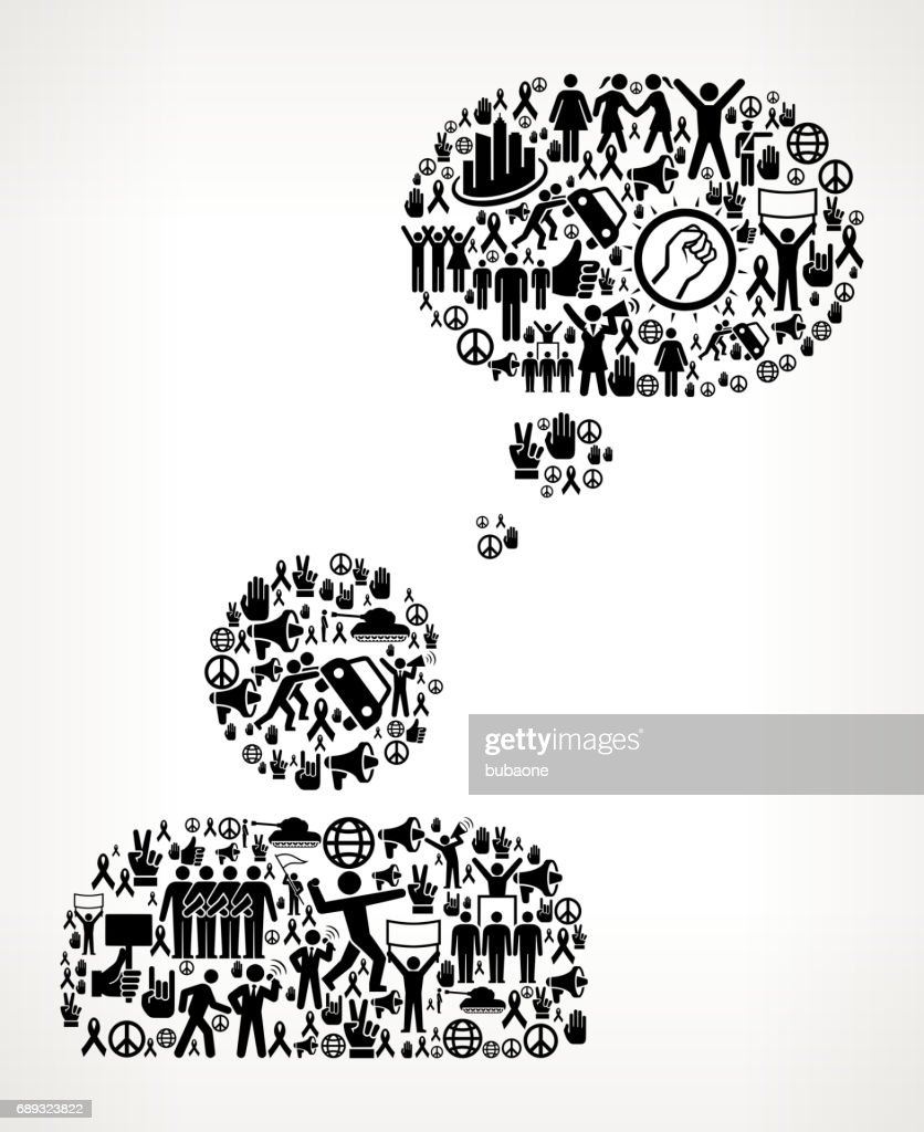 Thinking Head  Protest and Civil Rights Vector Icon Background : Stock Illustration