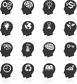 Thinking Heads Icons.