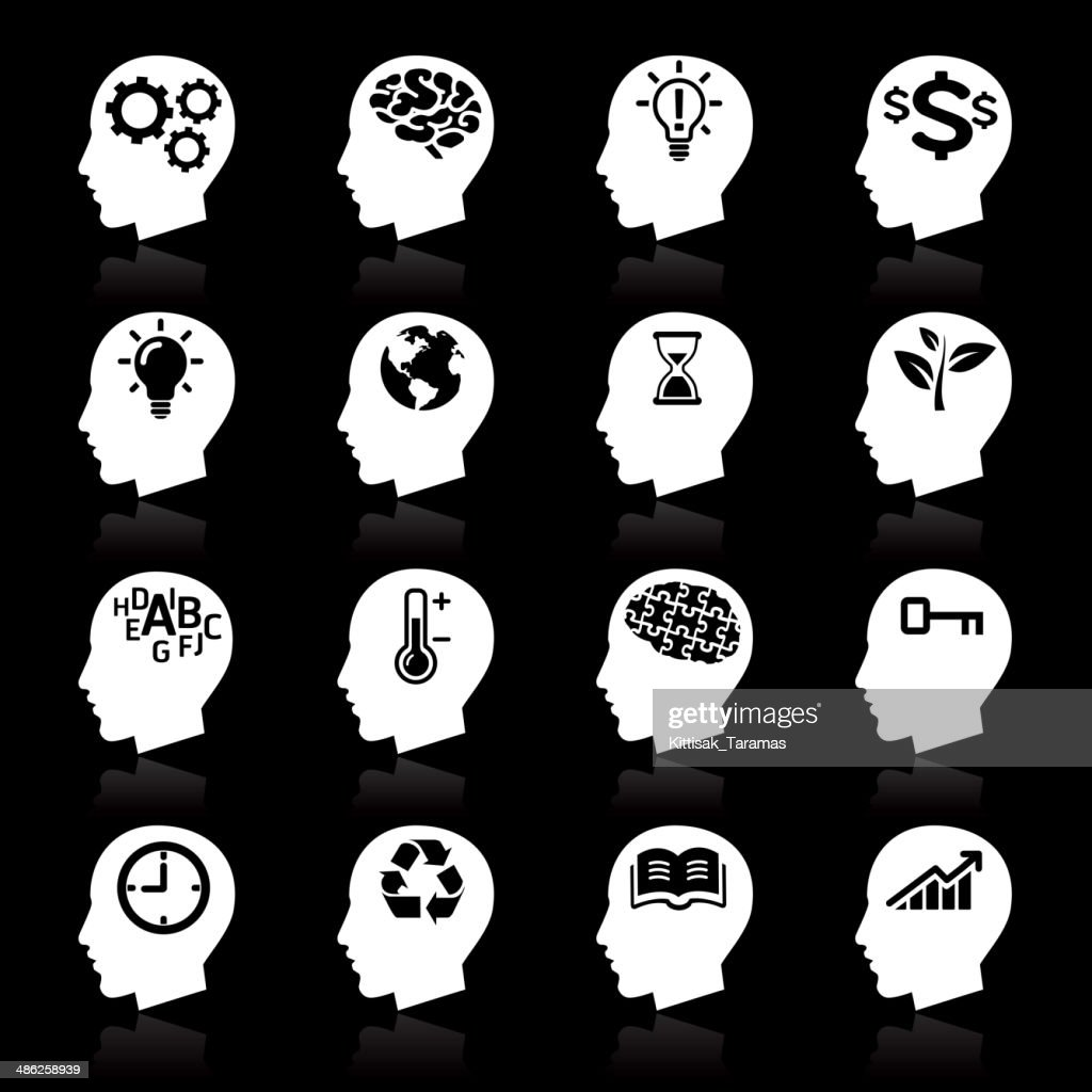 Thinking Heads white icons.