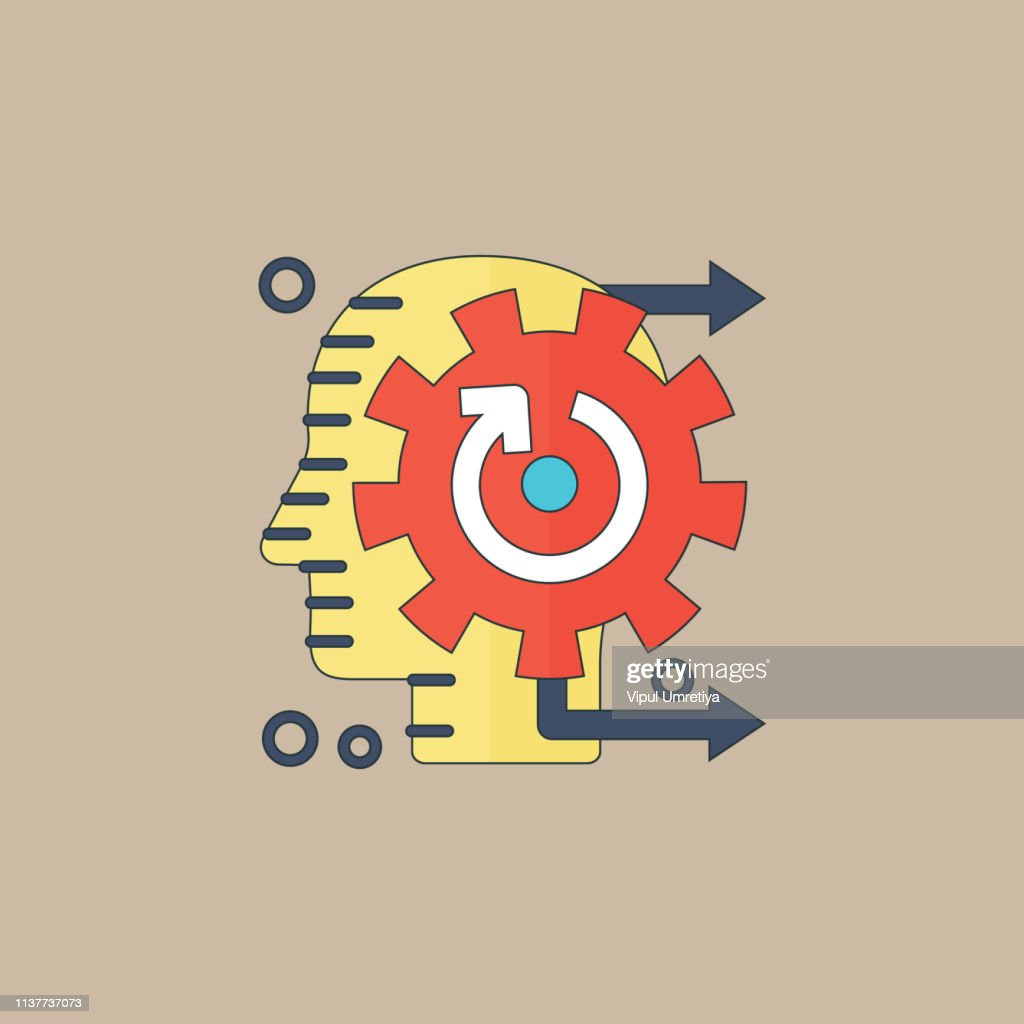 Thinking icon concept : stock illustration