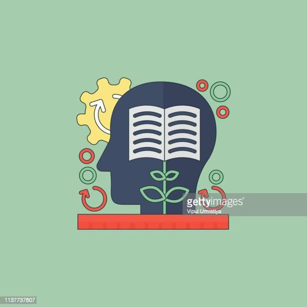 ilustrações, clipart, desenhos animados e ícones de conceito de pensamento do ícone - mindfulness