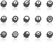 Thinking In My Head Icons | Simple Black Series
