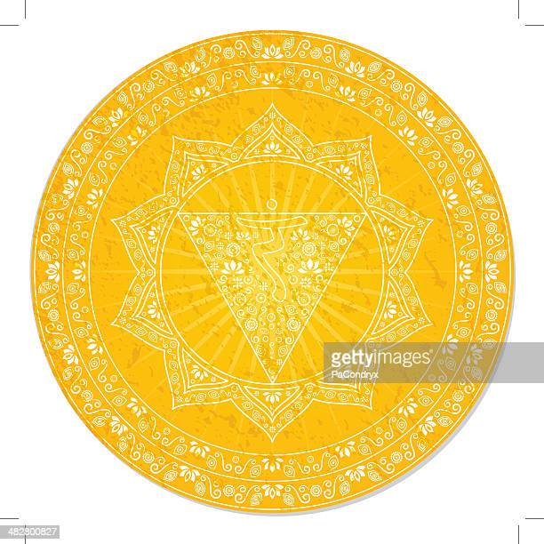 third chakra decorative - chakra stock illustrations, clip art, cartoons, & icons