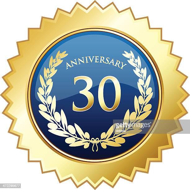 thirtieth 周年シールド - 30周年点のイラスト素材/クリップアート素材/マンガ素材/アイコン素材